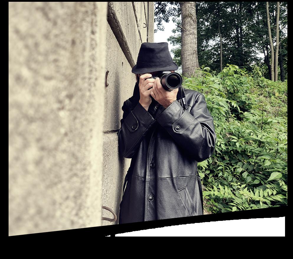 Detektyw podczas obserwacji lub poszukiwań